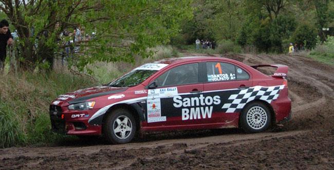 Santos sobresalió en el Rally Federal